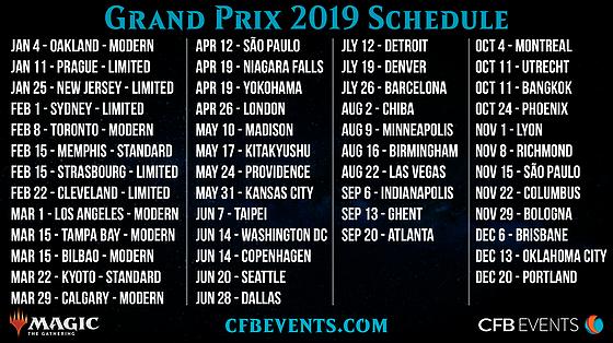 GP Schedule 2019