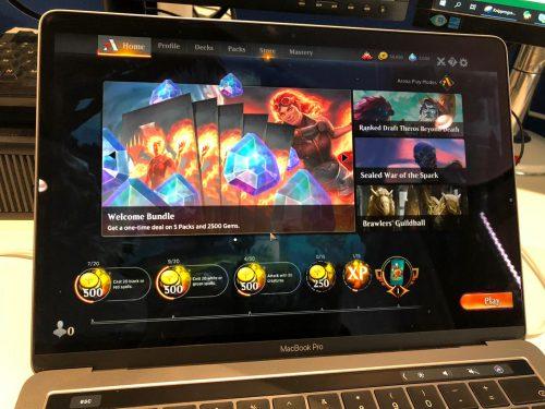 MTG Arena op Macbook