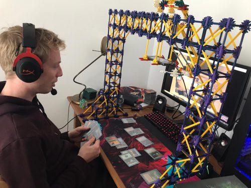 Magic Knex webcam setup
