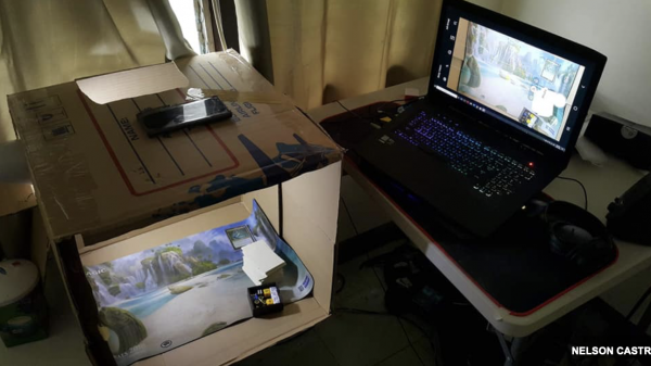 Analoge Magic setup via telefoon webcam